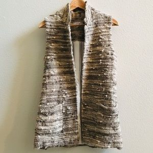 DREW textured sleeveless blazer vest jacket XS